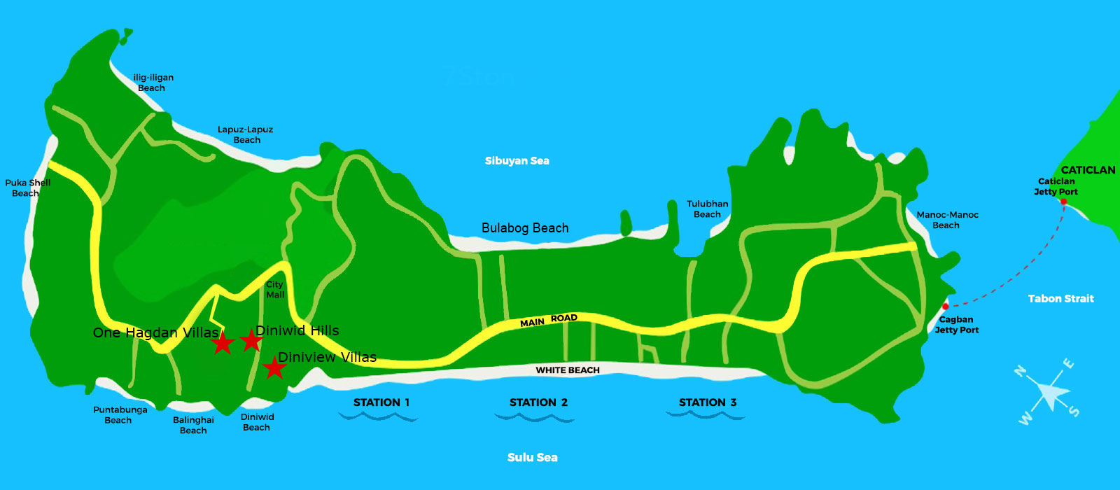 Diniwid Villas Map